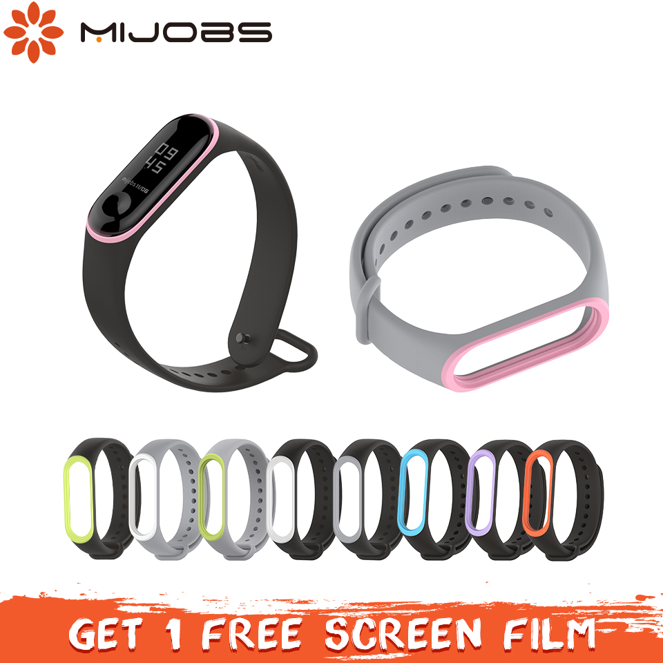 Mijobs Bracelet for Xiaomi mi band 3 Strap Silicone Wrist strap for Miband 3 Correa Smart Accessories Mi band 3 Strap Bracelet my beautiful diary my beauty diary mask refreshing hydra lock combination 23 мл 12 шт черная жемчужина 8 алоэ вера 4 clinique gentle cleansing 30ml 2 page 1