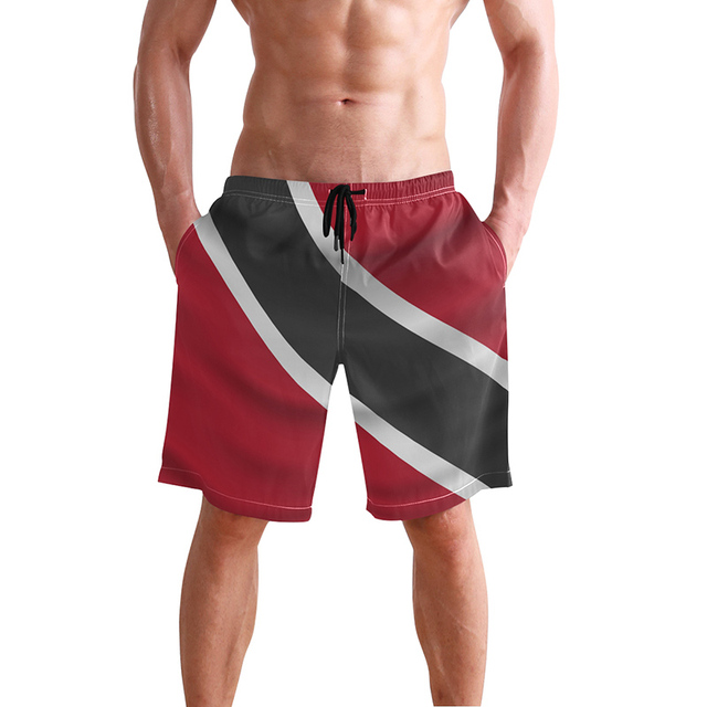 577f80bbb3 Trinidad And Tobago Flag Man Swimming Trunks Surf Shorts Men Bermuda Surf  Men's Sportswear Beach Short Men Brands Swimsuit
