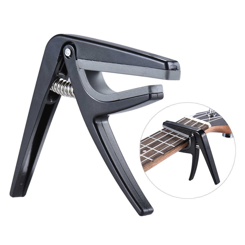 מקצועי Ukulele קאפו ביד אחת מהיר שינוי Ukelele קאפו פלסטיק פלדה שחור גיטרה חלקים ואבזרים
