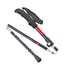 Ultralight Trekking Folding Pole Walking Hiking Sticks Camping Retractable Antiskid Crutches for the elderly(China)