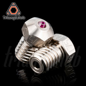 Image 3 - trianglelab T V6 Plated Copper ruby nozzle Reprap v6 hotend Ultra high temperature Compatible with  PETG ABS PEI PEEK NYLON