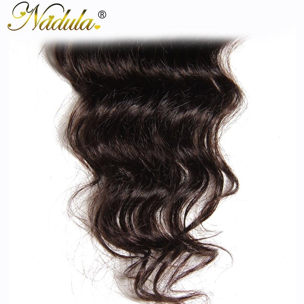 Nadula Hair 10-20INCH  Natural Wave Closure 100%  s 4*4 Free Part Swiss Lace Closure  6