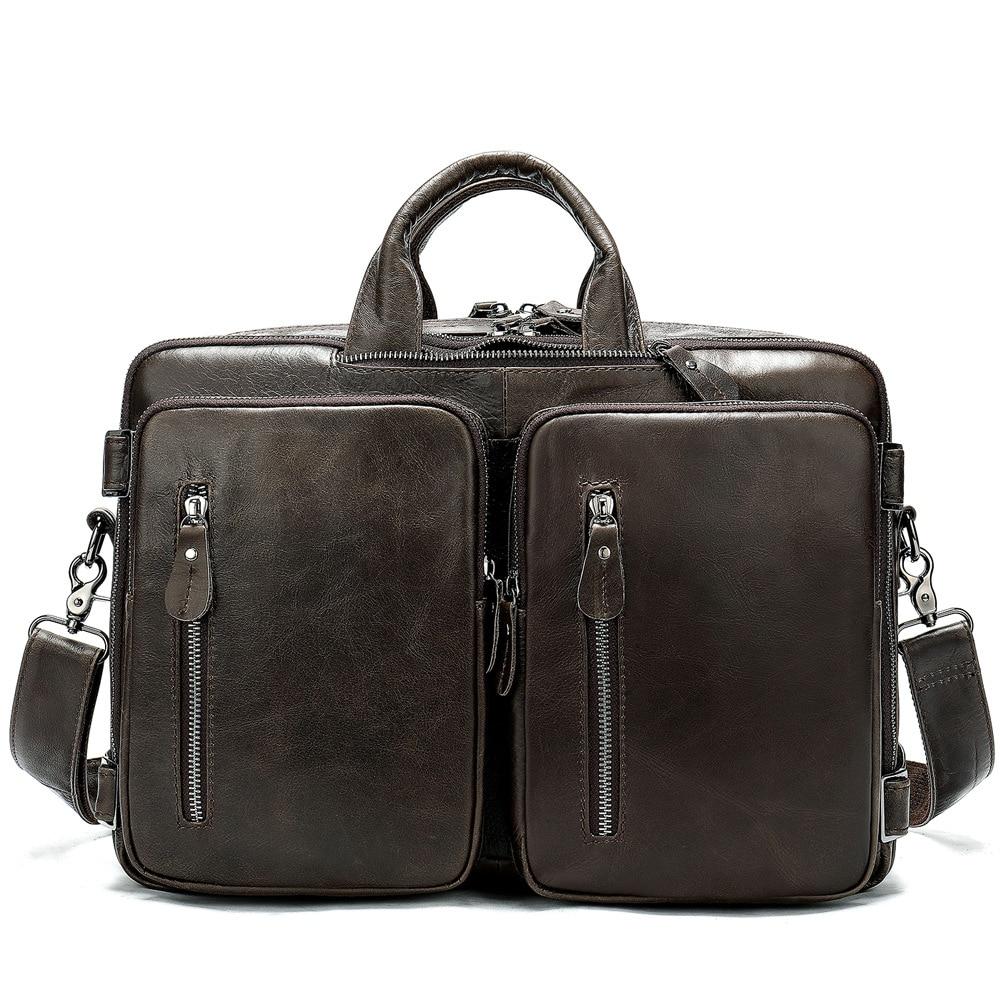 Große Brown black Tragbare Handtasche Litch Schulter Fashion Horizontale Aktentasche Einzelnen grau Taschen Rindsleder Computer Neue Business Männer Hang 433 xRXZaqR