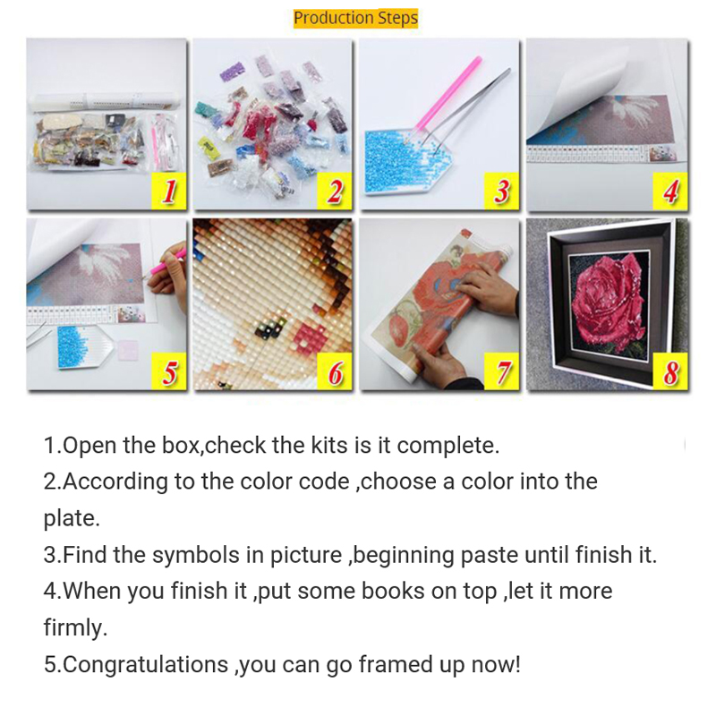 Diamond Embroidery Diy Handicraft Diamond painting kit stitch Cross 3D square mosaic 100 Icon Complete painting in Diamond Painting Cross Stitch from Home Garden