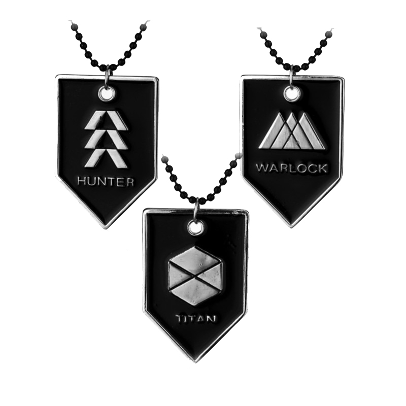 Online Game Around JEWELRY Destiny WARLOCK, TITAN, HUNTER Beads Chain Necklace Division Dog Tag Pendants Necklaces
