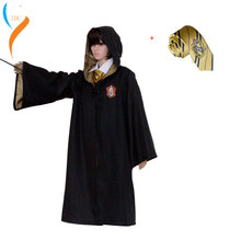 Harri Potter Robe Cape Cloak Gryffindor/SlytherinRavenclaw/Hufflepuff Robe Cosplay Costumes Kids Adult for Hermione Ron cosplay