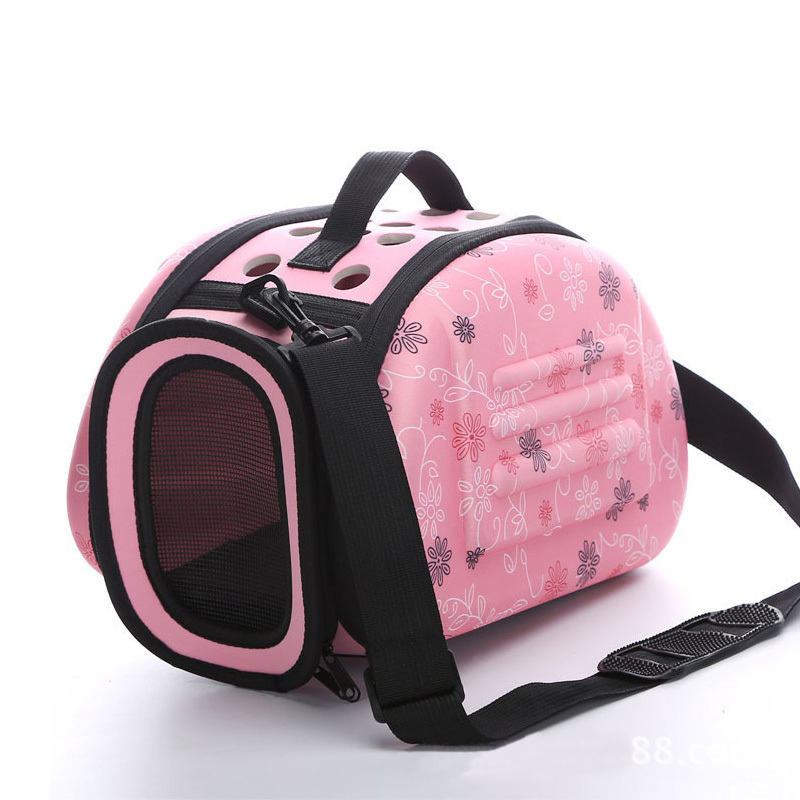 Portable Travel Pet Bag Outdoor Puppy Dog Cat Carrier Bags Shoulder Package Handbag Foldable EVA Material Soft Pets Dog Bag