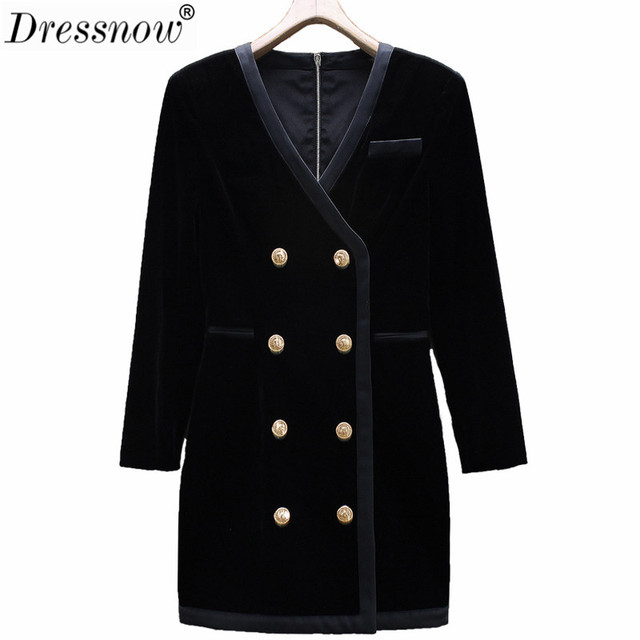 Dressnow Women Winter Warm Long Solid Coat Ladies Double Breasted V Neck Coats Jacket Female Office Lady Outerwear Tops