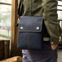 J.M.D Vintage Genuine Leather Messenger Bags Brown Cross Body Sling Bag Men 1006K