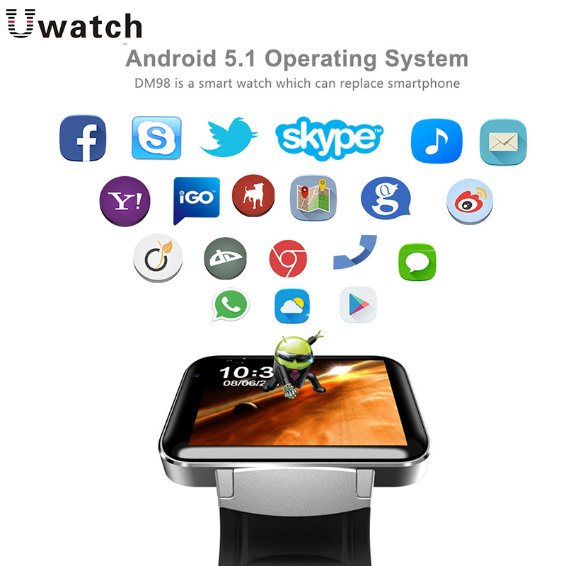 DM98 Smart Watch GPS WIFI Waterproof SIM Card MP3 Music Bluetooth Answer Call For Android IOS Phone Sport FitnessTracker Watches wireless service call bell system popular in restaurant ce passed 433 92mhz full equipment watch pager 1 watch 7 call button