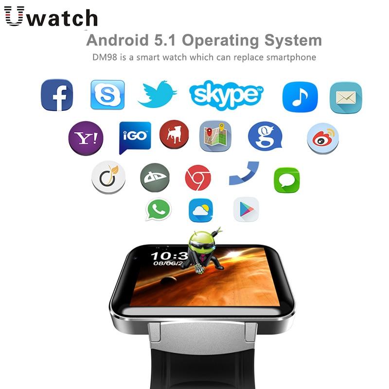 DM98 Smart Watch GPS WIFI Waterproof SIM Card MP3 Music Bluetooth Answer Call For Android IOS Phone Sport FitnessTracker Watches smart baby watch q60s детские часы с gps голубые
