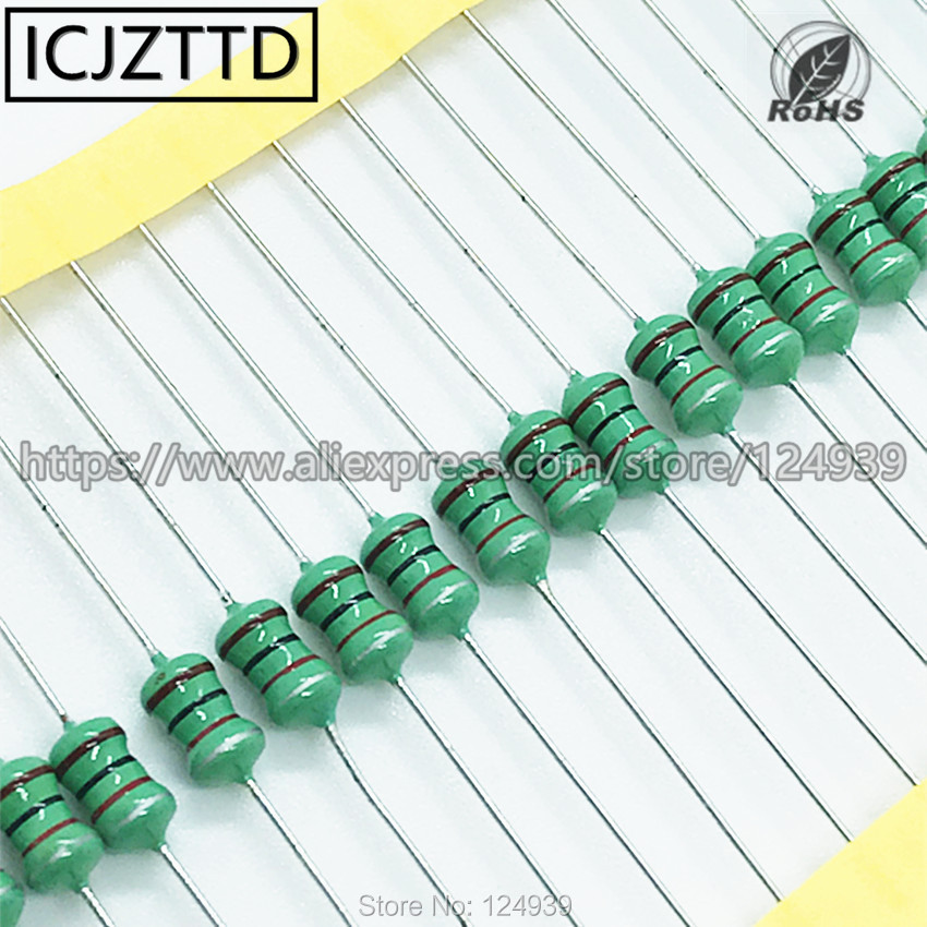 MAO YEYE 20PCS//LOT 0510 Color Ring Inductance 1MH 1mh 102 1W Inductor DIP