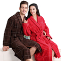 Хлопок халат мужчины женщины пижамы ночная рубашка для девочек одеяло полотенце утолщение длинный мягкий халат плюс размер осень зима