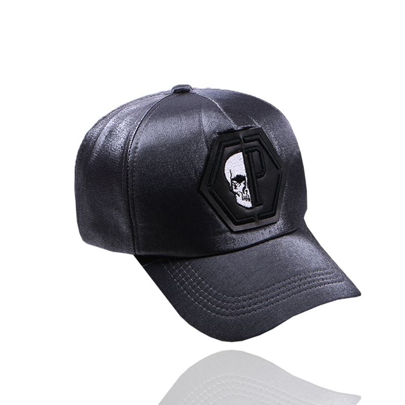 2018 Men And Women Skull Head  Baseball Cap Couples Fashion Wild Bend The Hat Korean Version Of  Hat  Bone