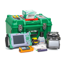 Komshine FX37 fusion splicer soudeuse kits with KF-52 fiber cleaver and QX50-S OTDR OPM OLS VFL