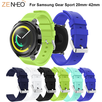 20 MM Silicone Strap For Samsung Galaxy Watch 42mm Band Sport Gear sport S2 watch huami amazfit Bip