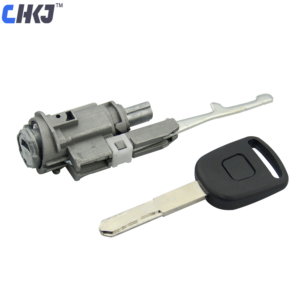 CHKJ Car Door Lock Cyclinder for 2003-2011 Honda Accord Fit CRV Odyssey Civic City Auto Ignition Barrel Cylinder with Key lx 4846 universal key ignition ring decorative sticker for car silver