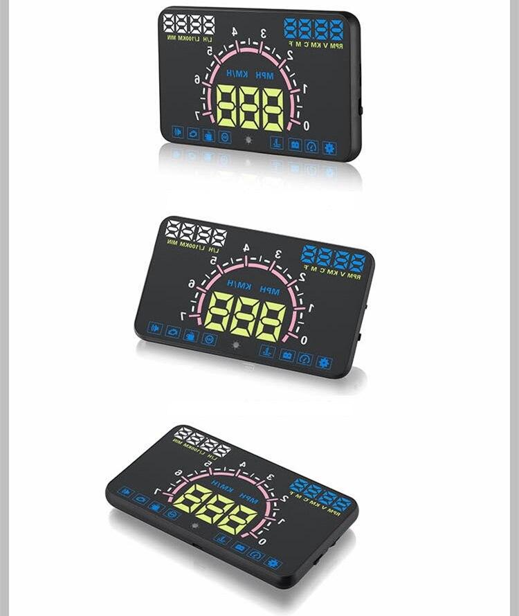 NEW Car HUD Head up Display OBD HD Speed Digital Speed Warning Fatigue Alarm Reflective Film