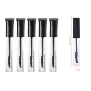 Beauty Portable 10mL Empty Mascara Tube Eyelash Vial Liquid Bottle Container Black Cap Refillable Bottles Makeup Accessories