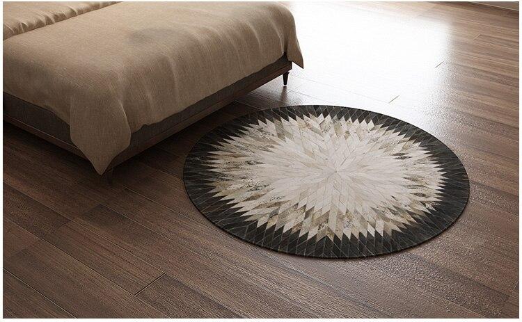 Fashionable art carpet 100% natural genuine cowhide leather leather patchwork carpetFashionable art carpet 100% natural genuine cowhide leather leather patchwork carpet