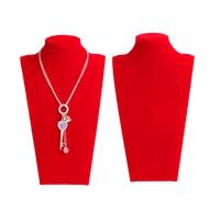 Velvet Neck Props Jewelry Necklace Pendant Neck Model Display Stand Holder