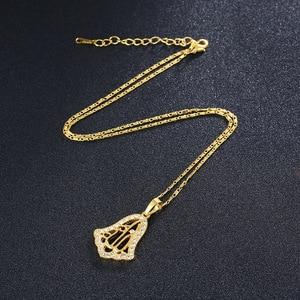 Image 5 - Новый религиозный Тотем стиль Золотой/Серебряный цвет Islanmic Аллах кулон ожерелье мусульманское ювелирное изделие для женщин бижутерия