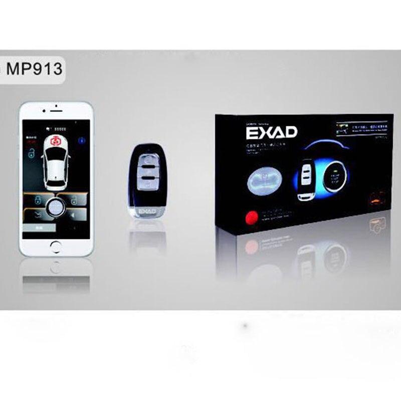PKE font b Smartphone b font Start Car Smart Alarm Start Stop Engine System Auto Central