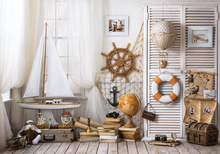 HUAYI Background Sea Ship Supplies Photography Backdrop Custom Portrait Studios Newborn Background XT-5766