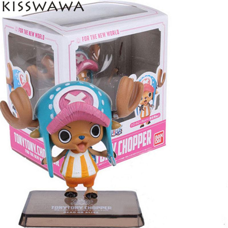 KISSWAWA Anime One Piece Zero Two Years Later One Piece Tony Chopper PVC Action Figures Toy Doll Model Collection japanese anime cartoon one piece tony tony chopper 2 years later pvc action figures toys 5pcs set with box