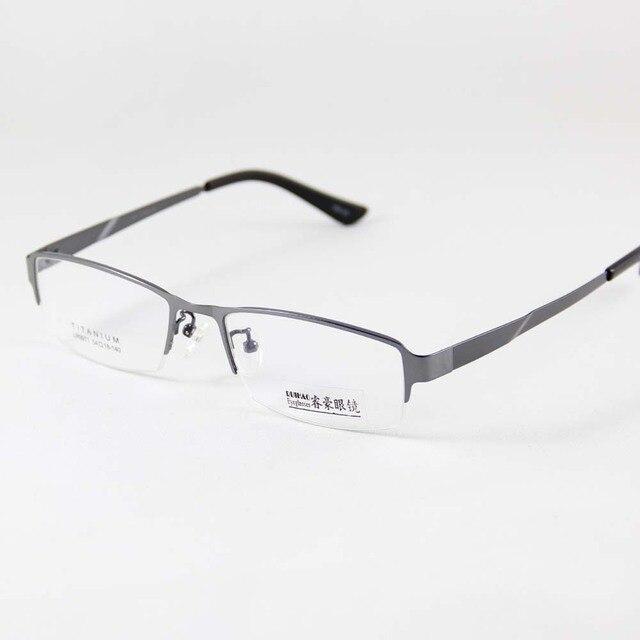 Kacamata Bingkai 100% Titanium Kacamata Pria Bingkai Kacamata Baca Optik Kacamata  Frame Kacamata Setengah Rimless 03169432b5