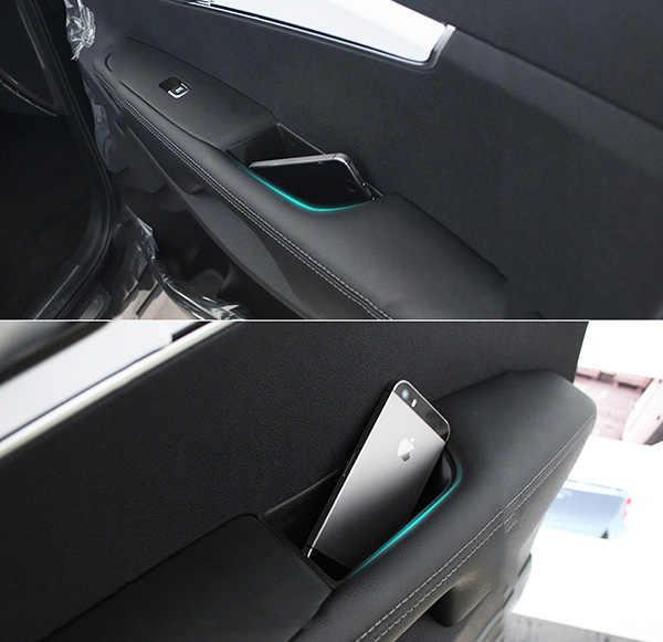 Caja de almacenamiento de la manija de la puerta delantera para Kia Sorento 2016-2019 centro de la consola del guante estilo