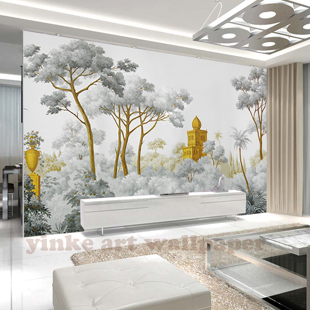 Custom Wall Mural Wallpaper European Style Retro Hand Painted The West  Famous Landscape Painting Wall Painting