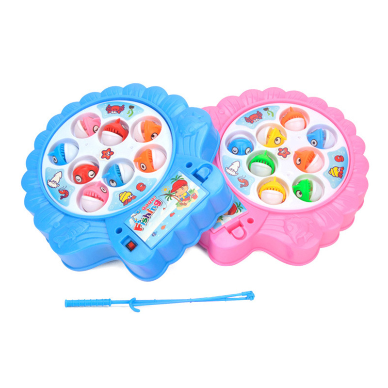 Fishing Game Non-magnetic Toy Kids fish educational toys for boys children's toys baby girls new year's gift Table Board classic