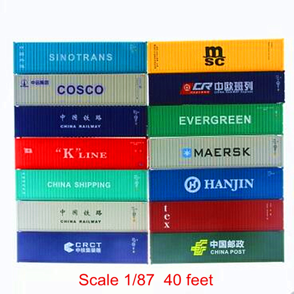 1:87 HO scale train Model 40 feet container Oceangoing Ship Freighter Boat Accessories Scale model parts