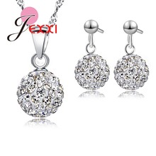 ออสเตรีย Pave Disco Ball Stud 925(China)