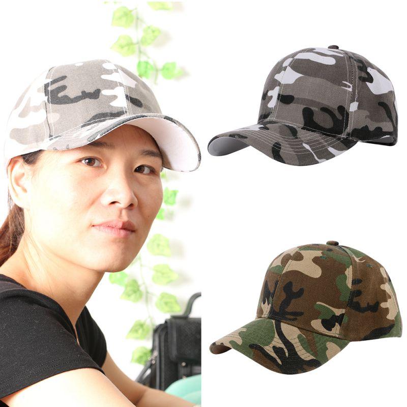 Retro Army Style Camouflage Baseball Caps Half Mesh Jungle Desert ... 5b63d8672b87