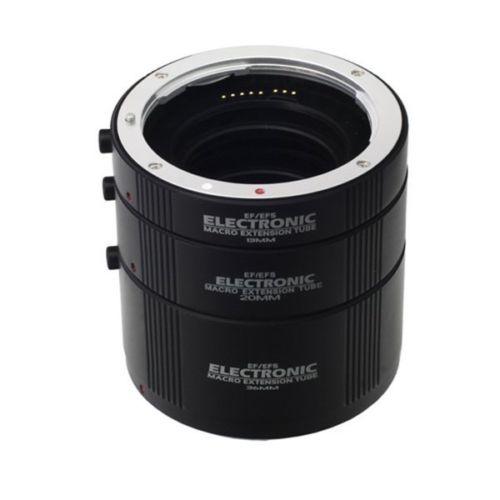 Électronique Macro AF Auto Focus Tube Extension Automatique Anneaux Set Métal Baïonnette pour Canon EF/EF-S monture