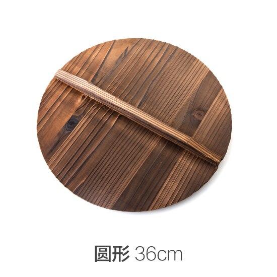 Китайская ель ручной экспорт анти-горячий горшок, гладить гипотенузы крышка вок деревянной крышкой 36 см