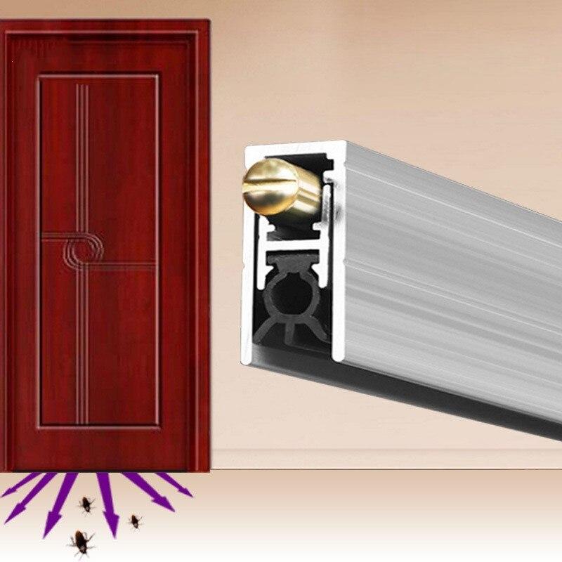 Wykonane na zamówienie automatyczne uszczelki drzwi hotelu domu drewniane drzwi dolna zamiatać taśma uszczelniająca Aluminium uchwyt + guma Hotel Residential w Taśmy uszczelniające od Majsterkowanie na AliExpress - 11.11_Double 11Singles' Day 1
