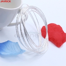 10pcs Seamless Silver Ultra THIN Skinny Round Hoops Bracelet Cuff Bangle #H058#