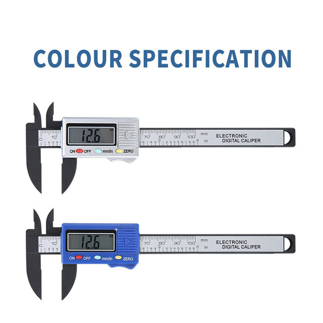 100mm Lcd Digital Electronic Carbon Fiber Vernier Caliper Gauge Micrometer Lcd Digital Electronic Carbon Fiber Vernier Caliper#2