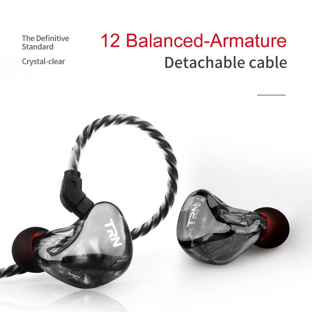 AK TRN X6 6BA Balanced Armature In Ear Earphone IEM HIFI DJ Monitor Running Sport Earphone