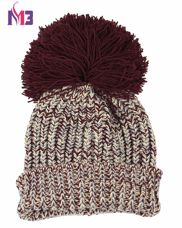 Fashion Women Warmer Knit Beanie Hat Thick Warm Casual Knitted Skullies Beanie Cap Reggae Ball in Women 39 s Skullies amp Beanies from Apparel Accessories