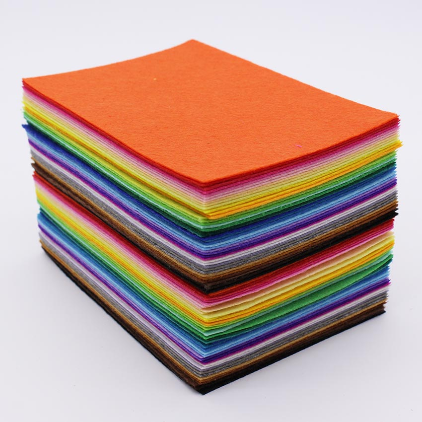 80pcs lot 1mm felt fabric polyester fabric needlework diy for Fabric cloth material