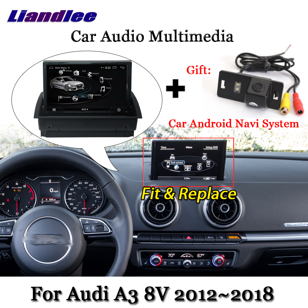 Liandlee Car Android System For Audi A3 8V 2012~2018 Stereo Radio DVD TV Carplay Camera GPS Navi Navigation BT Screen Multimedia