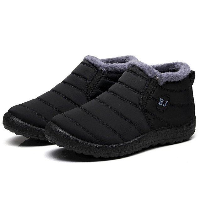 SAGACE 2019 Su Geçirmez Kadın Kış Ayakkabı Çift Kar Botları Sıcak Kürk İç Antiskid Alt Sıcak Tutmak Anne günlük çizmeler #35