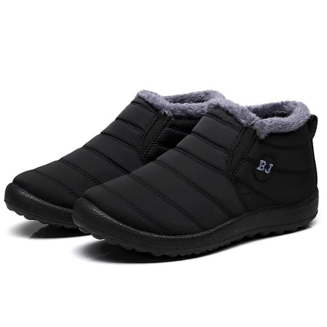 SAGACE 2019 ผู้หญิงกันน้ำฤดูหนาวรองเท้าคู่หิมะบู๊ทส์ขนสัตว์อุ่นภายในด้านล่าง Antiskid อุ่นแม่รองเท้าสบายๆ #35