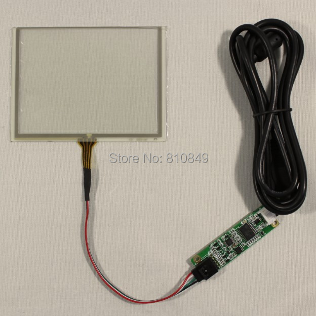 5inch 4-wire Resistive touch panel+USB controller card for AT050TN22 LCD panel VS050TP-A3 new compression tool for coaxial coax cable f type rg6 rg59 connector crimper