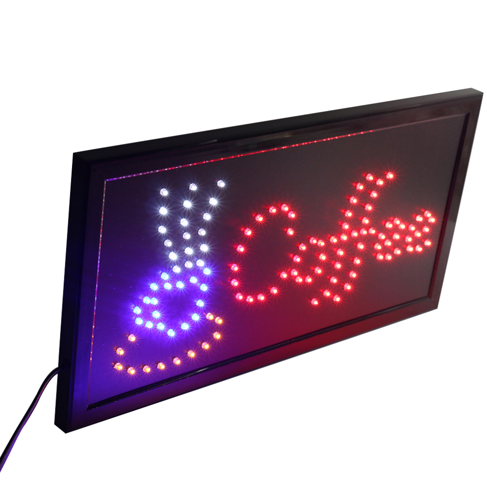 CHENXI Coffee Led Sign Neon Animated 19*10 Inch Coffee Store Business Open Advertising Sign
