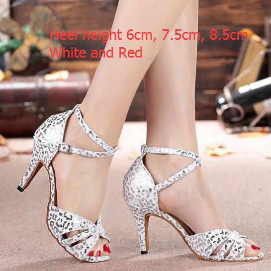 Ladies Popular White Silver Standard Ballroom Dancing font b Shoes b font High Heels Summer Sandals
